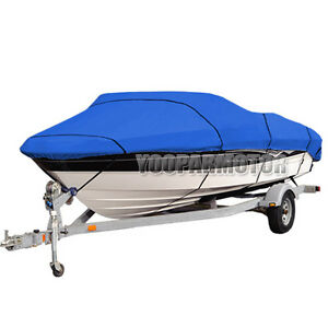 Heavy-Duty-14-16ft-Trailerable-210D-Marine-Grade-Boat-Cover-Waterproof-Blue