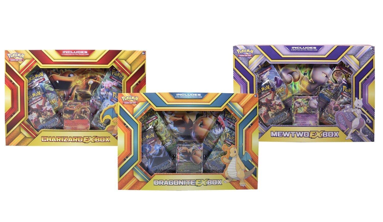Fire Blast Pokemon-EX  Lot of 3 EX Boxes Charizard, Dragonite, Mewtwo