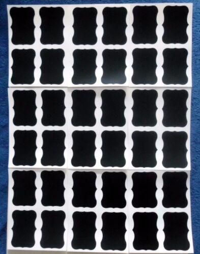 36 Chalkboard Labels Stickers 36 Vintage Style Peel /& Stick Kitchen Jars Storage