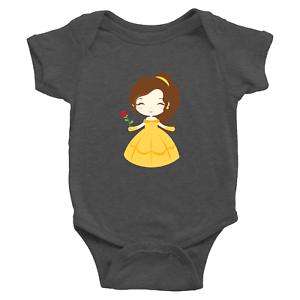 Infant-Baby-Rib-Bodysuit-Jumpsuit-Romper-Clothes-Beauty-amp-Beast-Princess-Belle