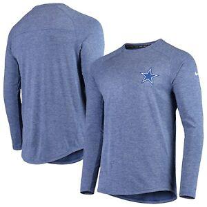 Dallas-Cowboys-Nike-Fan-Gear-Stadium-Long-Sleeve-T-Shirt-Royal-NEW-WITH-TAGS