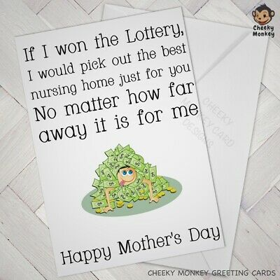 FUNNY MOTHERS DAY CARD For WIFE Cheeky MUM LOVE MOTHER Joke Humour cards