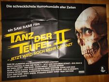 Tanz der Teufel II (USA, 1987) Filmplakat DIN A0 Querformat Sam Raimi Horror 2