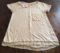 Women's Oatmeal Chenault Pocket Knit Over Sized Blouse Size Large $68