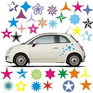 Aufkleber 8 teiliges Set  Stern Sterne Folie Stars Star Autoaufkleber Sticker 3