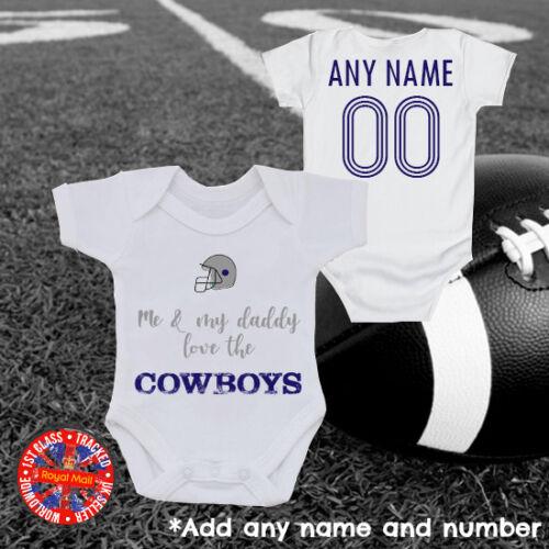 """cadeau football américain Cowboys inspiré /""""Me /& My Daddy/"""" Baby Grow Dallas"""