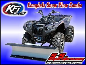 Kfi atv 54 snow plow kit plow mount combo suzuki king quad 700 image is loading kfi atv 54 034 snow plow kit plow fandeluxe Image collections