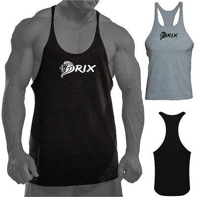 Rix Mens Gym Vest Bodybuilding Muscle Stringer Y Back Sports Fitness Top T Shirt