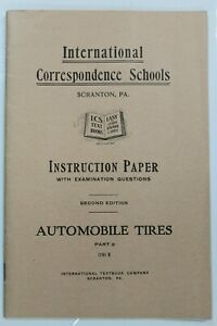Details about VERY RARE International Correspondence Schools Instruction  Automobile Tires-1914