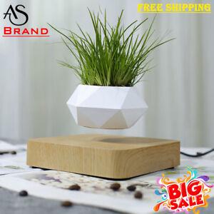 Cute Magnetic Levitating Air Bonsai Pot Rotation Flower Plant Decoration Free Sp Ebay