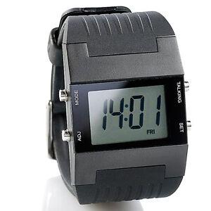 Uhr mit Weckfunktion: Sprechende Herren-Armbanduhr mit Weckfunktion