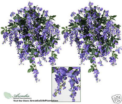 TWO 3/' Wisteria Artificial Flower Silk Plant Bush Wedding Arrangement Deco FU