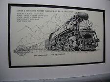 Denver Rio Grande Western 4-6-6-4 Challenger 1976 Exhibit Pen Ink Monster Steam