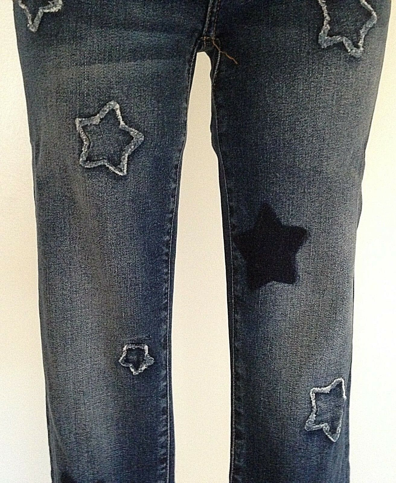 NEW MISS ME JEANS WITH TAG 2031 AK ANKLE SKINNY MID RISE INSEAM 27  STARS