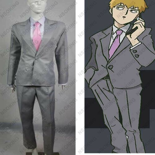 NEW Anime Mob Psycho 100 Arataka Reigen Cosplay Costume Suit GG.219