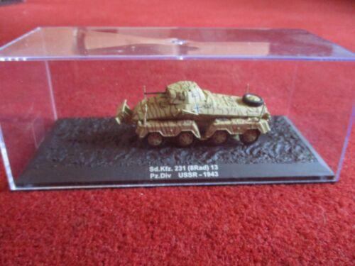 8Rad Deagostini 1:72 Sd.Kfz.231 13 Pz.Div USSR 1943 diecast vehicle