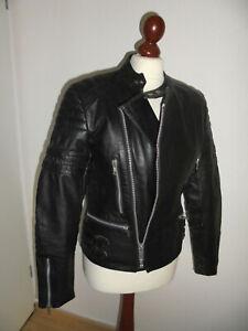 vintage-Motorradjacke-Bikerjacke-Lederjacke-oldschool-motorcycle-jacket-46-S-M