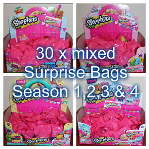 Shopkins-Mixed-30-x-Surprise-Bags-New-from-packet-sealed-in-surprise-bags
