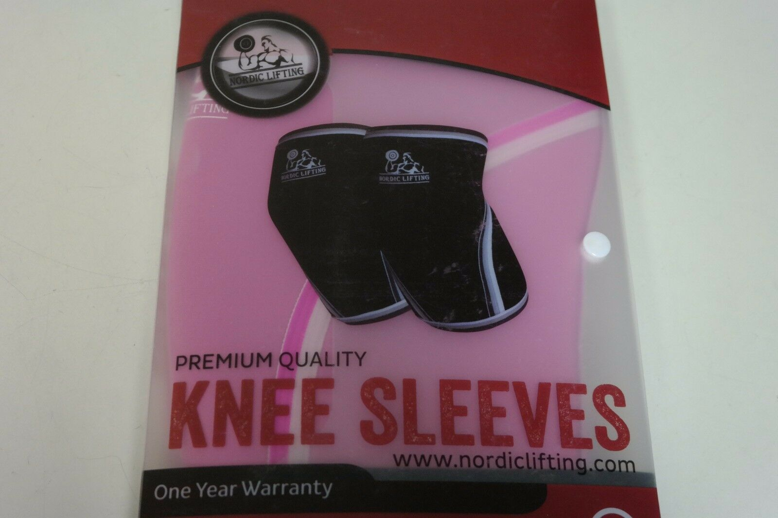 Nordic Lifting Knee Sleeves Support Compression for Weightlifting L Pink (H)