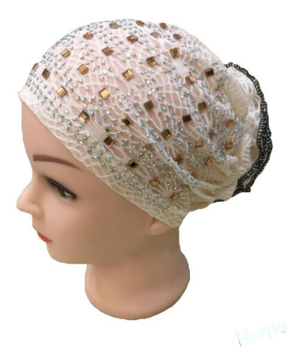 Muslim Kids Underscarf Hat Hijab Hair Loss Cover Scarf Turban Cap Hot Drilling