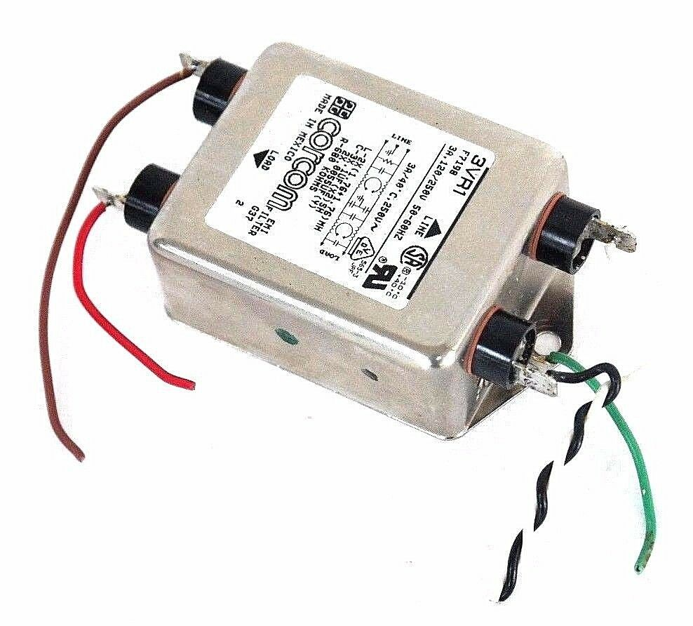 3ayo1 Corcom Lower Current Three Phase RFI Filters 50//60hz 1.5 Ohm .1uf 250//440v for sale online