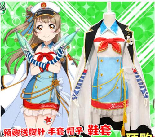 Members Nozomi Tojo Eli Ayase Navy Awakening Sailor Cosplay Costume Love Live!