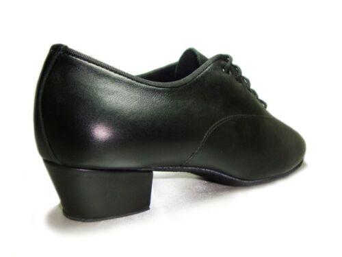MONDIAL SHOES 5 scarpe da ballo uomo bambino tacco 40//U nere basse pelle vitello