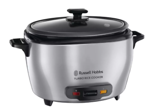 Russell Hobbs RHRC20 Turbo Rice Cooker with Tempered Glass Lid