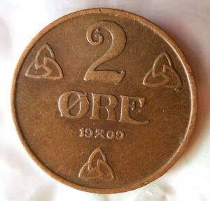 1909-Noruega-2-Mineral-Raro-Excelente-Moneda-B-Papelera-103