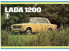 Lada 1200 Saloon c1980 Dutch Market Foldout Sales Brochure