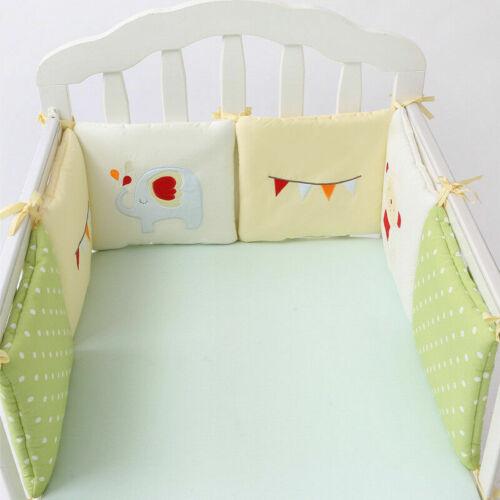 6Stk Baby Bettwäsche Nestchen Bettset für Babybett Bettumrandung Kissen Bett NEU
