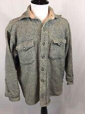 VTG 50's LL Bean Twill Wool Shirt Jacket Men's Size M Northwoods Signature Tag