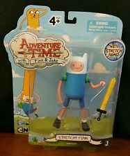 "MOC Jazwares Cartoon Network ADVENTURE TIME 5"" STRETCHY FINN & Sword Figure New"