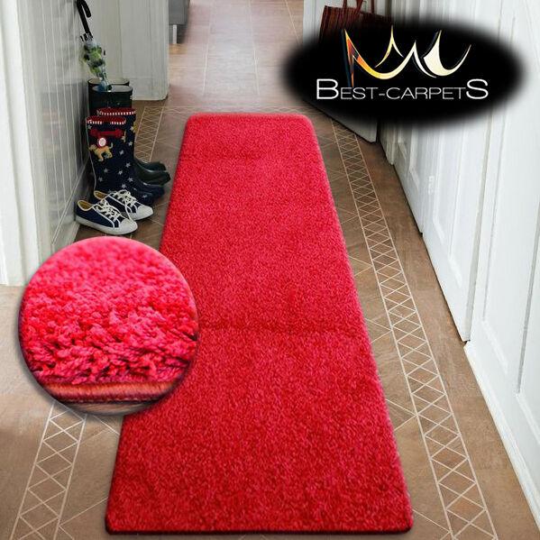 Modern hall coureurs soft shaggy tapis 5cm marron largeur largeur marron 50-200cm long tapis 397645