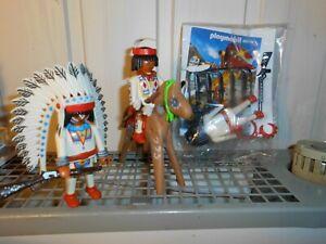 Playmobil Indianer Häuptling 2 x Kopfschmuck unbespielt top K2