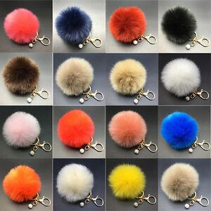 15-Farben-Tasche-Schluessel-Anh-nger-Kaninchen-Pelz-Fell-Handtasche-Key-Chains