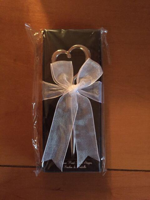 Kate Aspen Chrome Heart Shaped Wine Bottle Stopper Wedding Favors 9