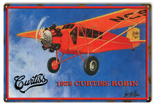 Reproduced from Original Art by Bob Miller 1928 Curtiss Robin Sign. 12X18