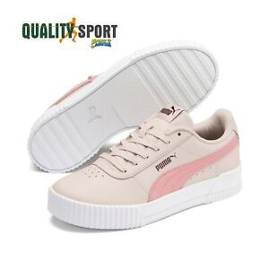 Dettagli su Puma Carina L Rosa Scarpe Donna Pelle Shoes Sportive Sneakers 370325 05 2019