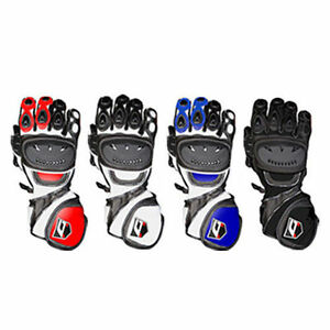 Akito-Sport-Max-Summer-Bike-Leather-Motorcycle-Racing-Re-inforced-Bike-Glove-T