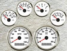 6 Gauge Set Gps 160mph Speedometertachofuel Levelwater Tempvoltoil Pressure