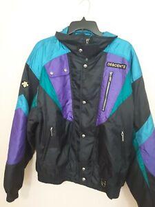 ec6f85d6e Vtg Mens Descente Ski Jacket Retro Colorblock Size Large Zip Buttons ...