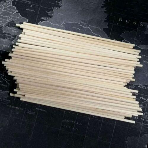 100pcs Dowel Rods Long DIY Dowel Rods Wood Craft Dowel Sticks for Kids Children