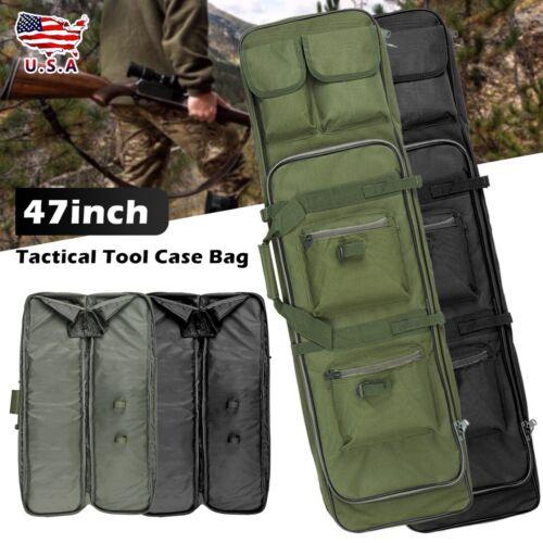 "47/"" Tactical Padded Hunting Gun Rifle Gun Case Cover Soft Bag Backpack US"