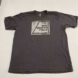 The-North-Face-T-Shirt-Mens-XXL-Brown-Spell-out-Logo-Short-Sleeve-Casual