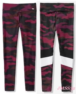 7febd22e52 Victoria s Secret Pink High Waist Cotton Leggings Burgundy Ruby Camo ...