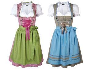7b682da4b75c82 Das Bild wird geladen Damen-dirndl-3-teile-Bluse-Set-Oktoberfest-Trachten-