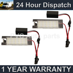 2X-FOR-VAUXHALL-VECTRA-C-MERIVA-INSIGNIA-ASTRA-18-WHITE-LED-NUMBER-PLATE-LAMP