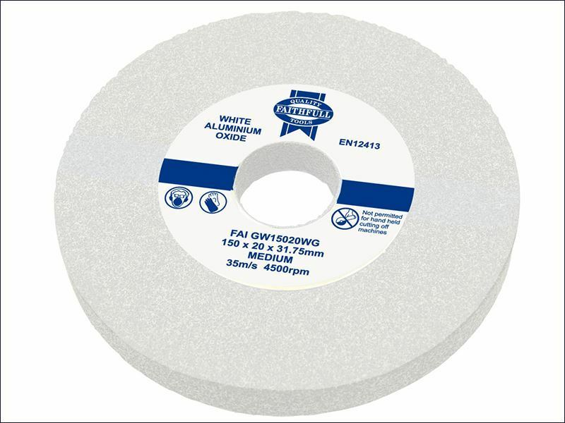 Faithfull - General Purpose Grinding Wheel 200mm x 25mm Weiß Medium