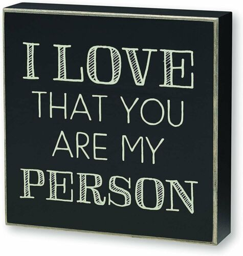 """Collins Painting /""""You/'re My Person/"""" Box Sign Wooden Signs with Sayings Gift"""